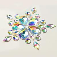 China Colorful Pear Shaped Sew On Glass Crystals , Extremely Shiny Sew On Gemstones wholesale