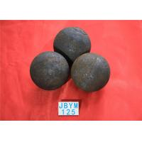 China Grinding Resisting Hot Rolled Steel Ball for Copper Mine / Gold Mine Dia 125mm wholesale