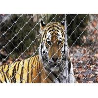 China Weatherproof Bird Enclosure Netting , 316 Stainless Steel Rope Net For Tiger wholesale