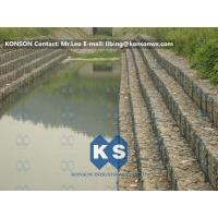 China Heavy Zinc Coated Gabion Basket Retaining Wall 8x12cm To Protect Riverbank wholesale