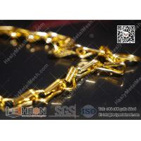 Buy cheap Golden Color Aluminum Fly Mesh Chain Curtain With High Quality from wholesalers