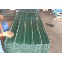 China Green / Blue Color Coated Steel Roofing Sheet Z30 - Z275g / M² Width 960mm wholesale