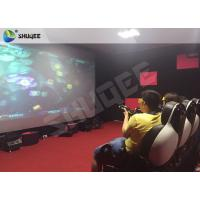 China Striking Amusement 7D Movie Theater With Gun Playing , Motion Chair wholesale