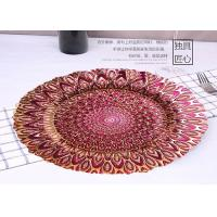China Handmade Peacock Plating Glass Fruit Plate / Round Glass Plate For Bread on sale