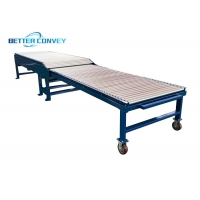 China Scalable Double Tracks Channel Pallet Flexible Roller Conveyor wholesale