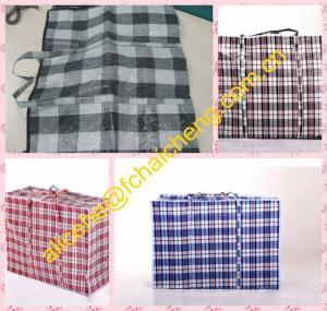 China PP Woven fabric material plaid tarpaulin bags/shopper bag material wholesale