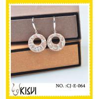 China Excellent finishing round white shamballa handcrafted crystal jewelrys / earrings wholesale