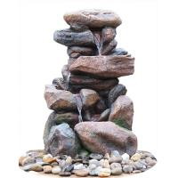 China Contemporary Hand Cast Large Rock Fountain For Patios / Aquaria wholesale