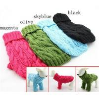 China Winter Pet Long Sleeve Dog Turtleneck Sweater Hand Knitting Labrador Apparel wholesale
