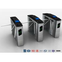 China Tripod Turnstile Half Height Turnstile Entrance Gates Electric RFID Card Reader wholesale