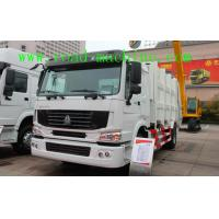 China White Sinotruck  Howo  4 x 2 8L 8-12m3 White Color Compacted Garbage truck wholesale