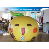 China Yellow Ball Apple Shape Inflated Helium Balloons Smile Airtight For Advertisement wholesale