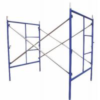 China Blue Painted Steel Q235 Frame Scaffolding System For Building Projects / Yard Construction wholesale