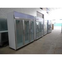 China Stainless Steel Upright Commercial Display Freezer -25°C With Vertical Light wholesale