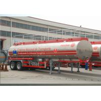 China Lightweight Aluminum Alloy Liquid Tank Trailers With 2 Axles 30400L High Volume wholesale