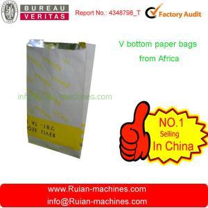 China Plain Brown Kraft Paper Bag Machine on sale