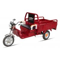 China Battery Power Electric Cargo Trike Red 3 Wheel Tricycle 6-8 Hours Charge Time wholesale