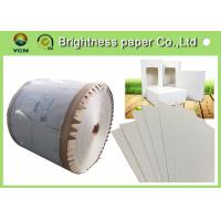China Coated Paperboard White Back Duplex Board Sheet / Roll 250gsm ~ 450gsm wholesale