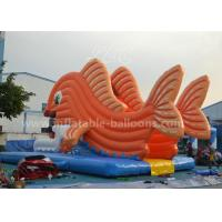 Buy cheap Giant Goldfish Inflatable Water Slide Commercial With Bule Mat For Park from wholesalers