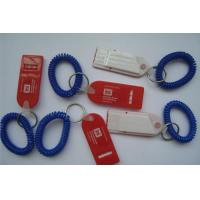 China Plastic Spring Wrist Coil Cord W/Flat Whistle for Promotion wholesale
