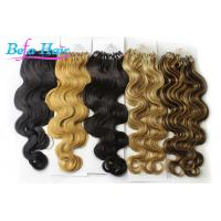 China Grade 7A Body Wave Indian Remy Micro Loop Hair Extensions With Tangle Free wholesale