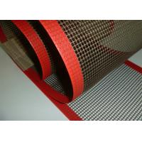 China High Strength Glass Fiber Woven Fabric PTFE Mesh / PTFE Mesh Screen on sale