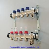 China Radiant Floor Heating Stainless Steel Manifolds Systems , Stainless Steel UFH Manifold on sale