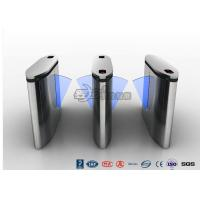 China IP54 Anti - Breakthrough Flap Turnstile Speed Automatic Gates Barcode System With Bule Light wholesale