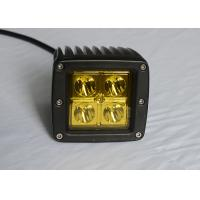 """China Yellow Lens Pods Vehicle LED Work Lights 2 x 2 3"""" 16W For Marine / Jeep / Offroad wholesale"""