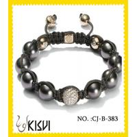 China Fashion design CZ crystal & alloy 10mm beaded crystal bracelets with factory price wholesale