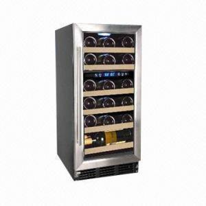 China 22-bottle Capacity Dual Zone Wine Cooler/Chiller, R134a Refrigerant, 88L/3.11cu.ft, CE/ETL Certified wholesale