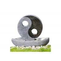"""Buy cheap 2 LED Lights Oriental Water Fountains , Home Garden Fountain In Taiji Diagram Shape 23"""" product"""
