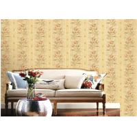 American Country Style Deep Embossed Wallpaper Durable 1.06*15.6m Roll Size
