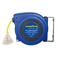 China 125 Volt 13 Amp 3 Core Compact Goodyear Hose Reel With Reset Button wholesale