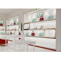 Quality Beautiful Adjustable Wood Shelving / Shoe Wall Display For Lady Shoe Mall for sale