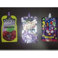 Flexible Printing Stand Up Pouch With Spout Packaging / Freeze Fruit Juice Liquid Packing