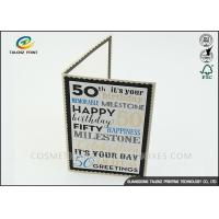 China Kraft Paper Personalised Christmas Cards Pantone Color Environmental Protection wholesale