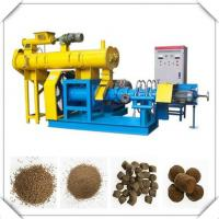 China Blue/yellow Fish Feed Extruder Machine with 0.18t/h-5t/h production on sale