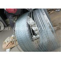China 22 mm Length Sharp Razor Barbed Wire Galvanized CBT - 65 Concertina For Fence wholesale