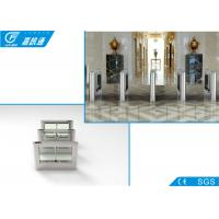 China Electric Magnetic Biometric Drop Arm Turnstile Gate One Direction 25 Persons / Min wholesale