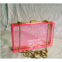 China Red Retangle Woman Acrylic Box Clutch Bag for Wedding Party wholesale