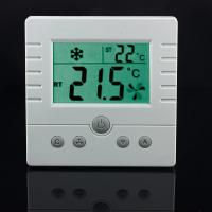 50/60Hz Digital Temperature Controller Thermostat 3- Speed Fan Control