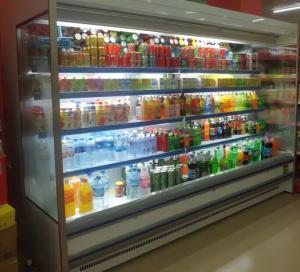 Quality Supermarket Vegetable Multideck Open Chiller / Display Refrigerator Energy Saving for sale