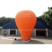 China Orange / Red / Blue Ground Custom Inflatable Balloons 6m 420D Oxford Cloth wholesale