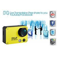 Quality Colorful Swiming Use WIFI Action Camera 60M Waterproof with 2.0 Inch Screen / PC Cam for sale