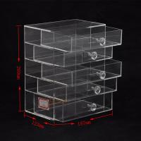 Quality 5 Tier Acrylic Display Stand Custom Store FixturesJewelry Display Drawer With Diamond Handle for sale