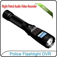 Quality 1080P Police Flashlight DVR On-site Enforcement Audio Recorder Night Patrol for sale