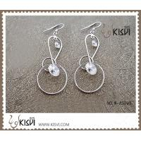 China Fashion sterling silver gemstone hoop earring with competitive price W-AS795 wholesale