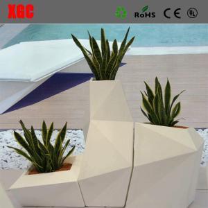 China General Used Outdoor Garden Square Flower Pot Fiberglass  Planter Pots wholesale