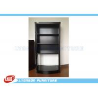 China Jewellery Custom Black Painted Wood Display Cabinets With Glass Doors wholesale